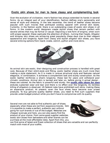 3c48ce3f56b Crocodile or exotic skin shoes for mens by Ash mensusa - issuu