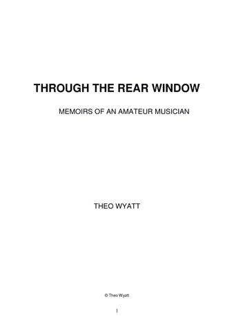 Through the Rear Window by Making Music - issuu