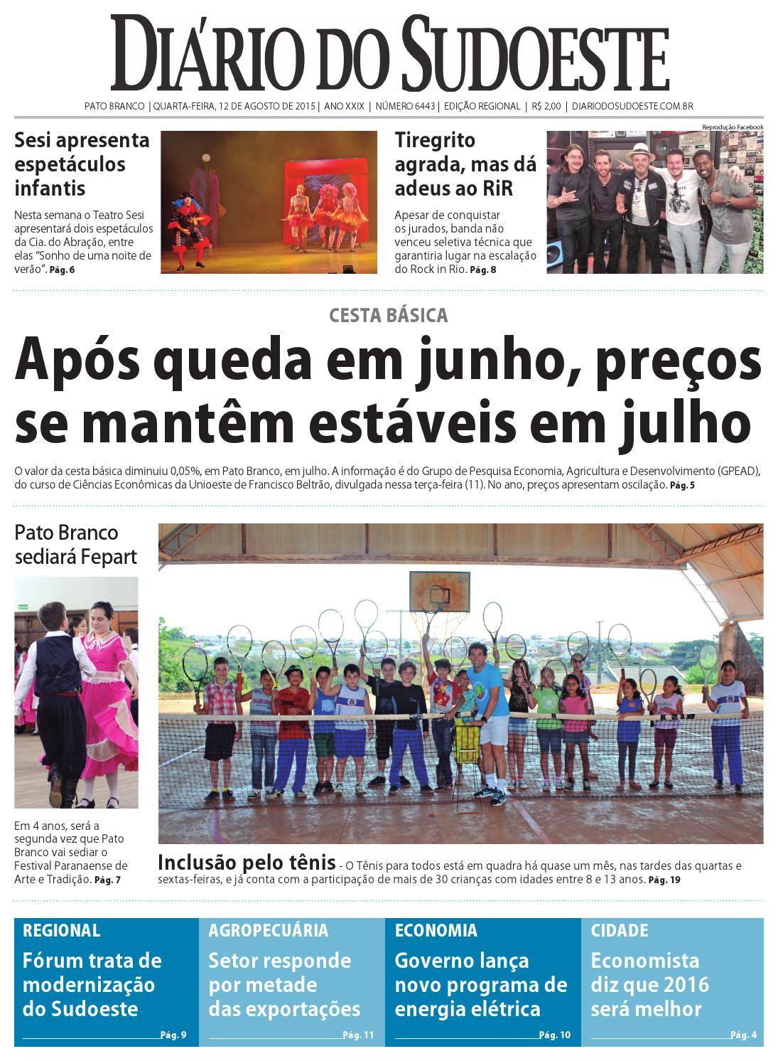 Diário do sudoeste 12 de agosto de 2015 ed 6443 by Diário do Sudoeste -  issuu 59edffdcaacb5