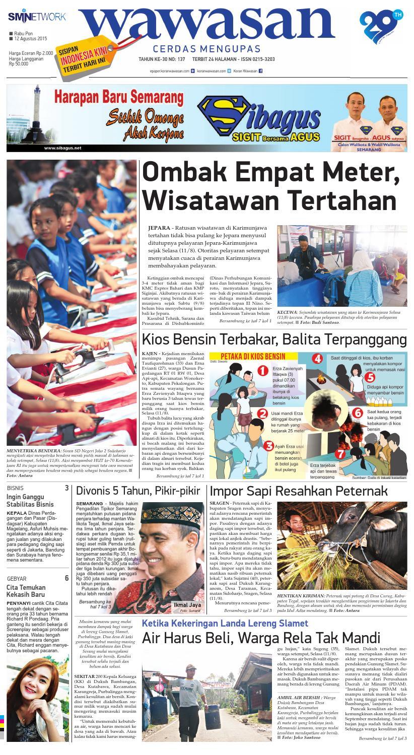 WAWASAN 12 Agustus 2015 by KORAN PAGI WAWASAN - issuu ce10080b5a