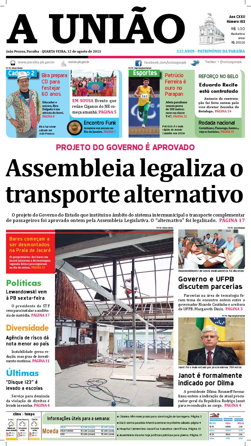 Jornal A União - 12 08 2015 by Jornal A União - issuu 71adc222d83b5