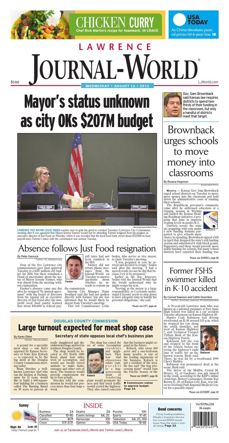 276f25cc98a9 Lawrence Journal-World 08-12-2015 by Lawrence Journal-World - issuu