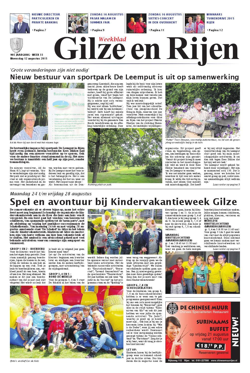 a98ca93d140 Weekblad Gilze en Rijen 12-08-2015 by Uitgeverij Em de Jong - issuu
