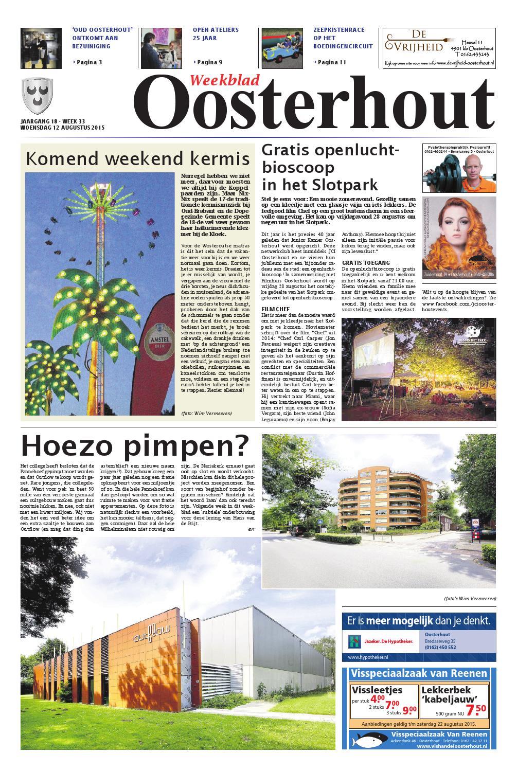Weekblad Oosterhout 12 08 2015 By Uitgeverij Em De Jong Issuu