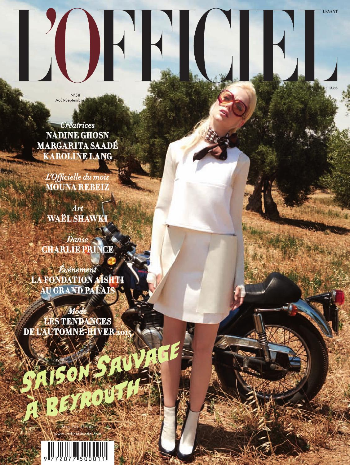 L Officiel-Levant, August September Issue 58 by L Officiel Levant - issuu 4558d7cea4c