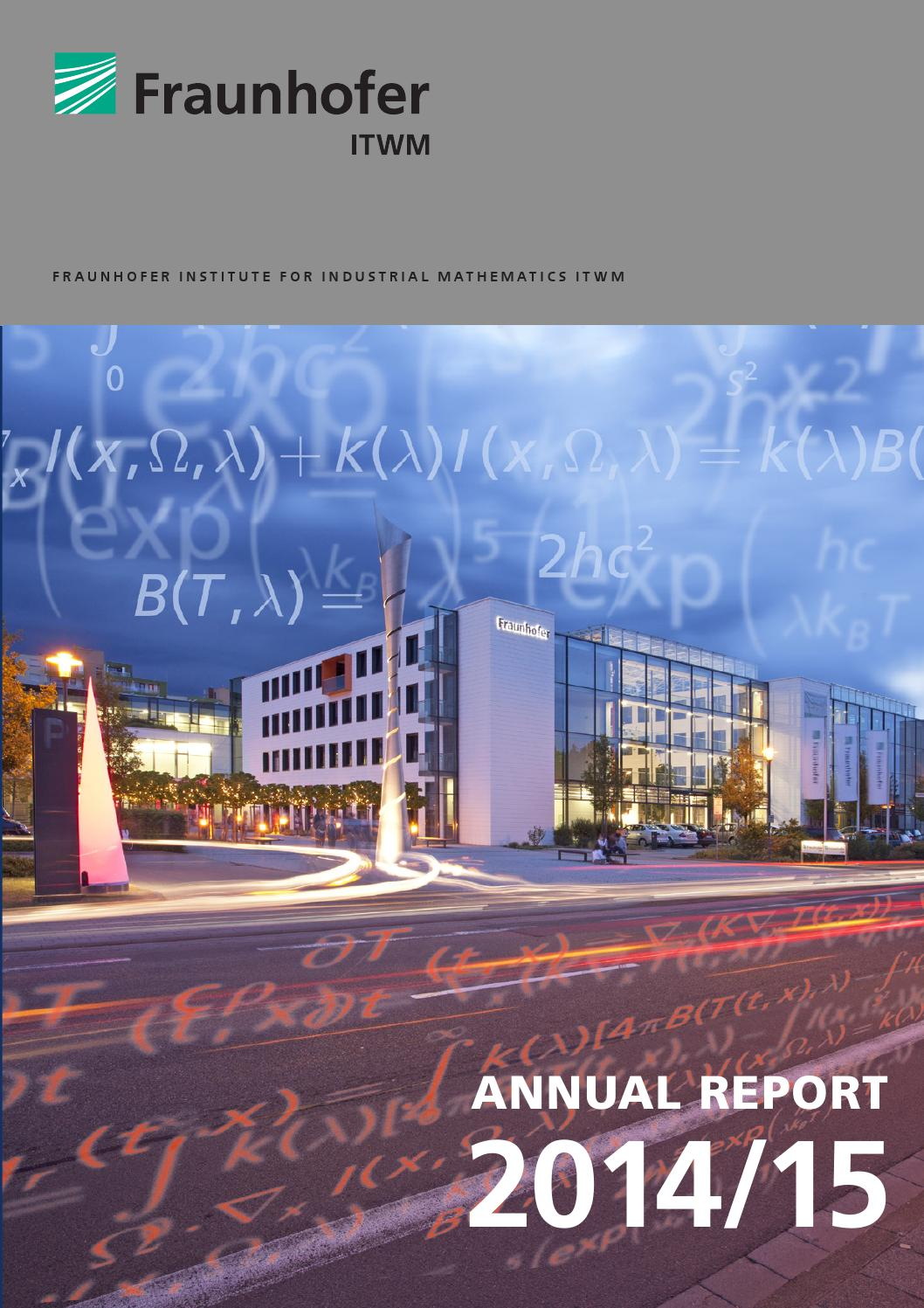 Annual Report 2014 by Fraunhofer ITWM