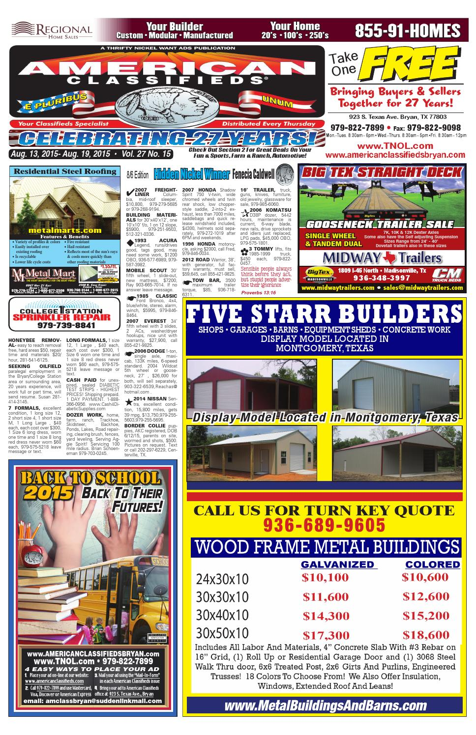 American Classifieds Aug 13th Edition Bryan College Station By 120240 Volt 3 Phase Delta High Leg Electrician Talk 2016 Car Release Issuu