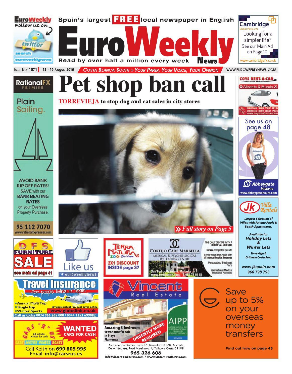 Ainhoa Madrid David Moreno Porno euro weekly news - costa blanca south 13 - 19 august 2015
