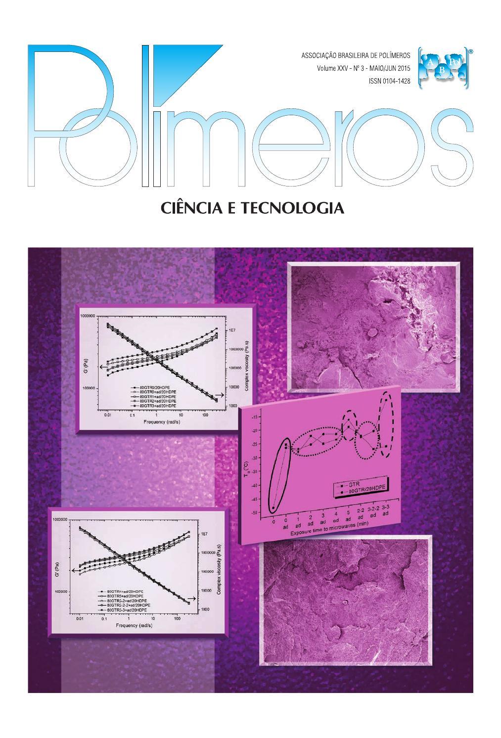 Polímeros Ciência e Tecnologia, vol.25, n.3, 2015 by Polímeros ...