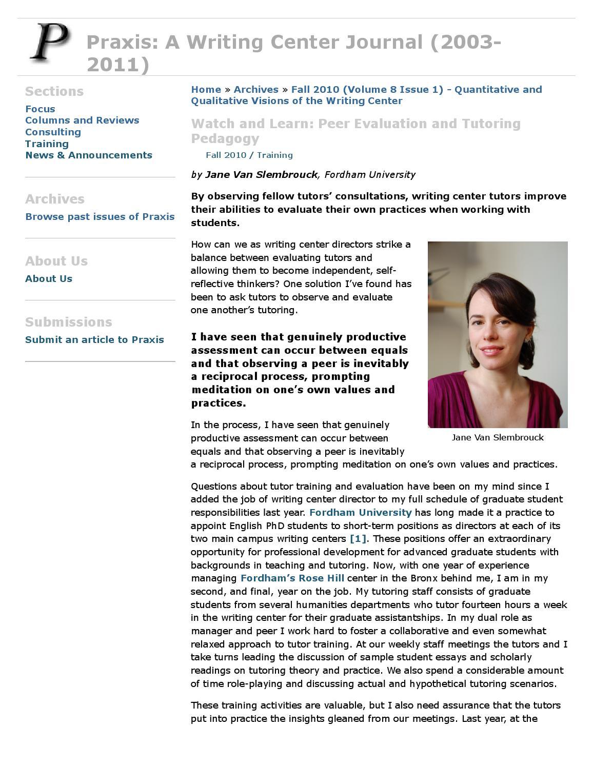Praxis a writing center journal