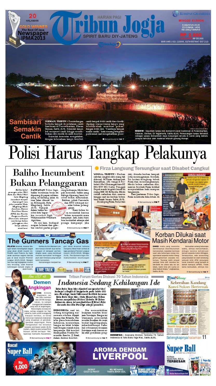 Tribunjogja 09 08 2015 By Tribun Jogja Issuu Loop Ekskul Voucher Map Rp 100000