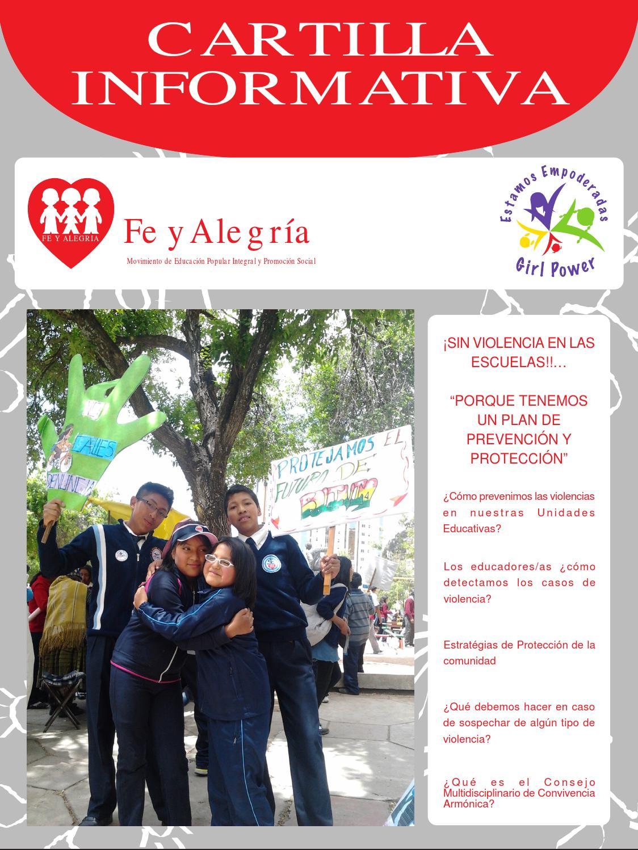 Cartilla Informativa - Sin violencias en las escuelas by
