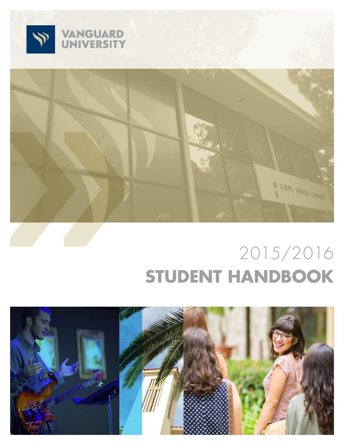 2015 2016 Student Handbook Final 8 11 15 By Vanguard University Issuu