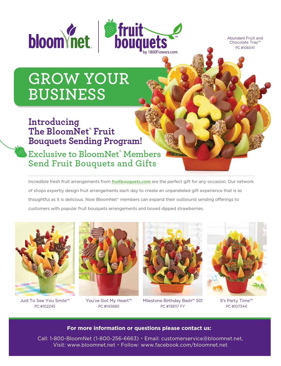 Fruit Bouquet Sending Program by BloomNet - issuu