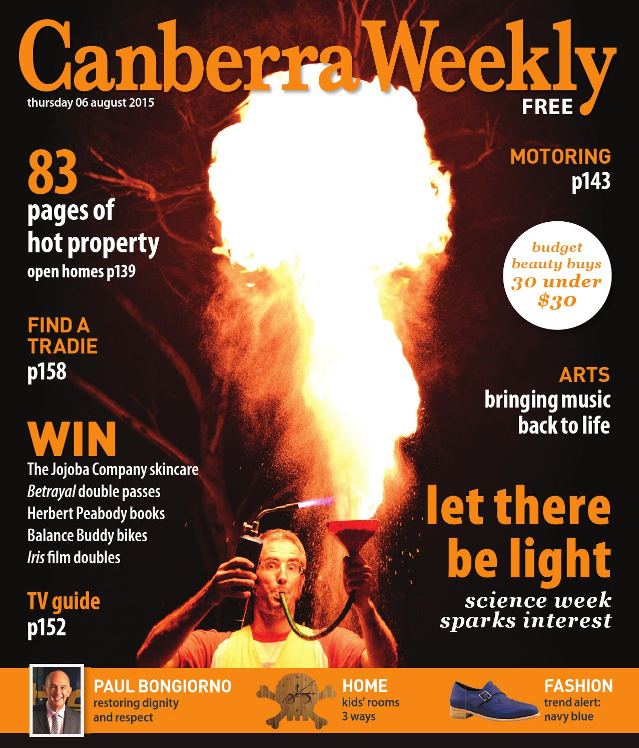 6 August 2015 by Canberra Weekly Magazine - issuu 20434e7eaa486