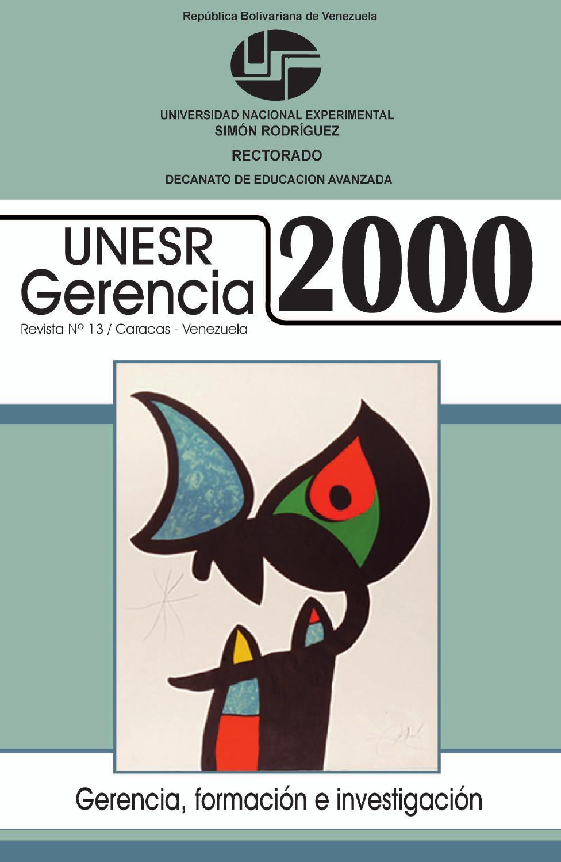 UNESR Gerencia 2000 [#13] by Ediciones del Decanato de Educación ...