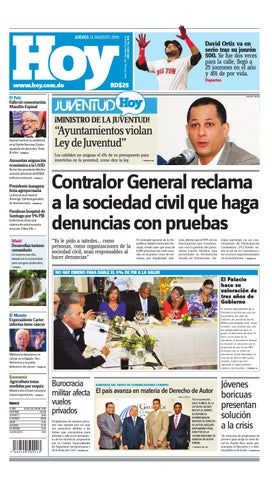 newest 7b693 84097 Periódico jueves 13 de agosto, 2015 by Periodico Hoy - issuu