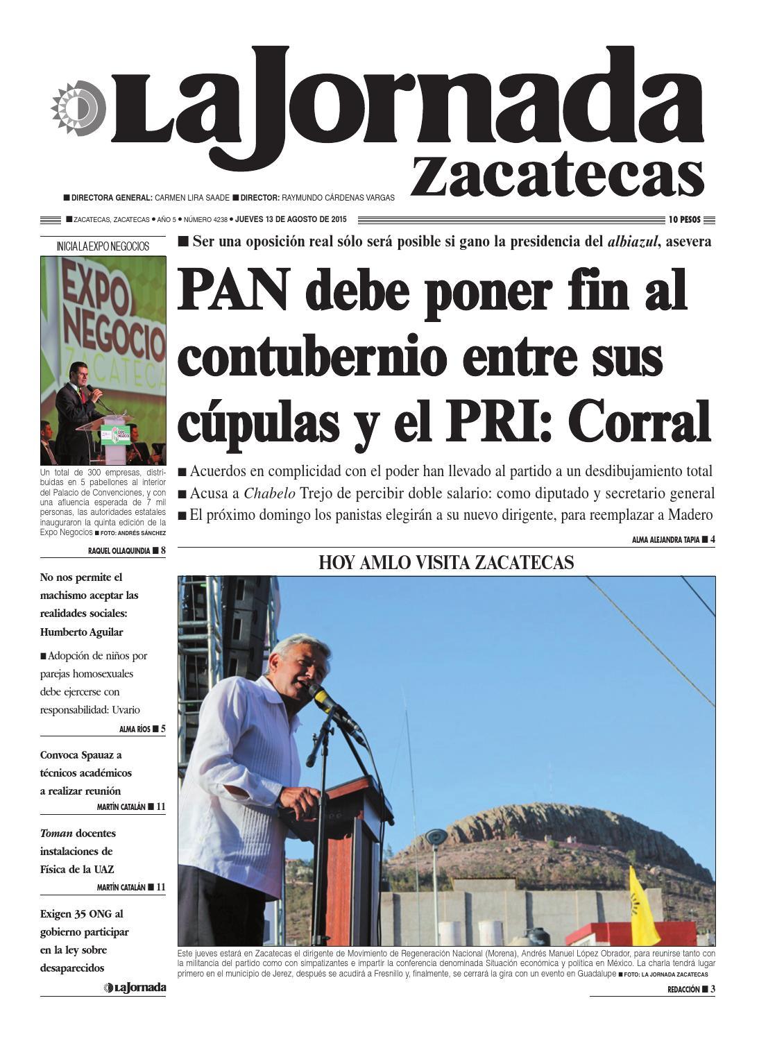 La Jornada Zacatecas, jueves 13 de agosto del 2015 by La Jornada ...