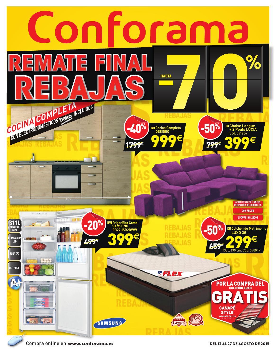 Conforama catalogo 13 27agosto2015 by catalogopromociones - Rebajas conforama 2015 ...