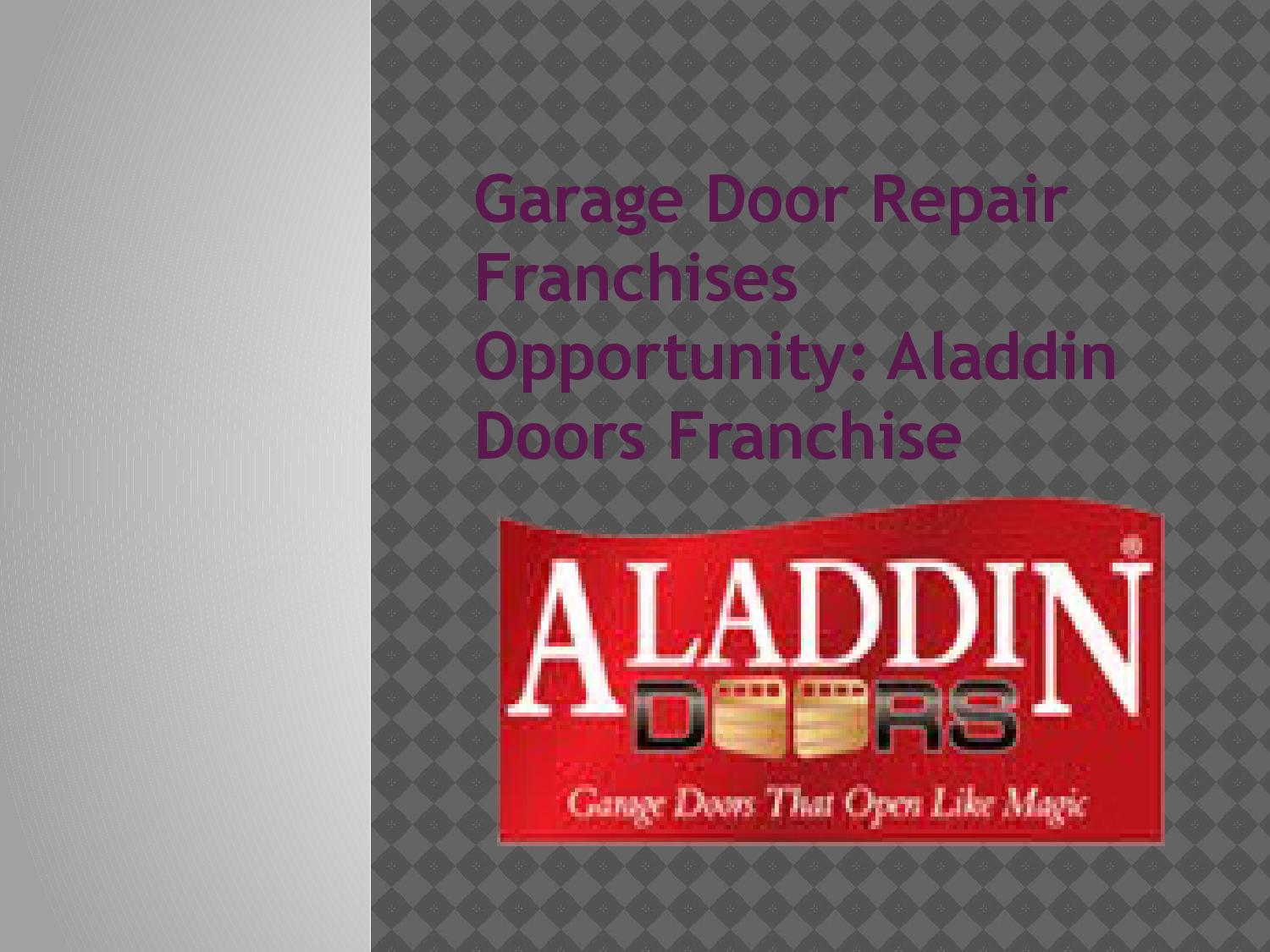 Garage Door Repair Franchises Opportunity By Scrallet Smith Issuu