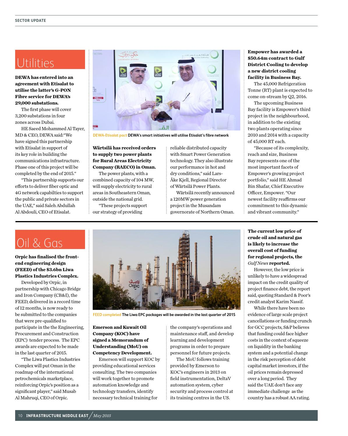 Infrastructure Middle East May 2015 by Infrastructure ME - issuu