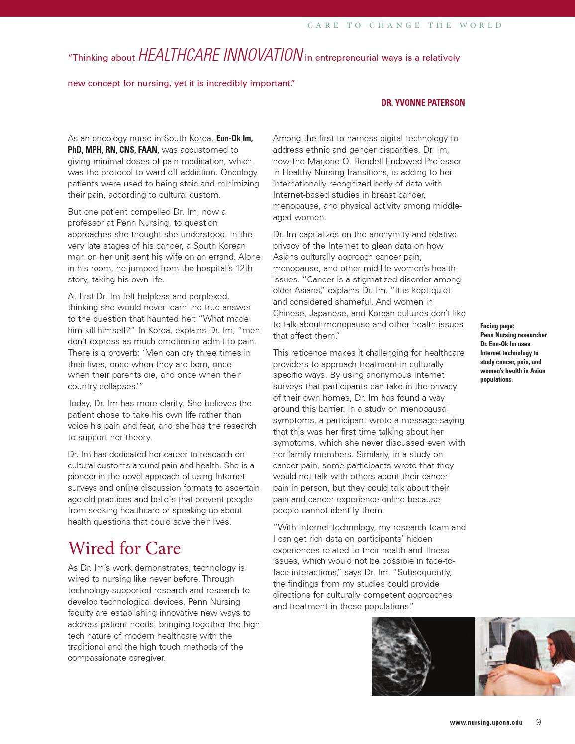 Penn Nursing Upfront Spring 2012 By Pennnursing Issuu This Is How I39m Currently Wired