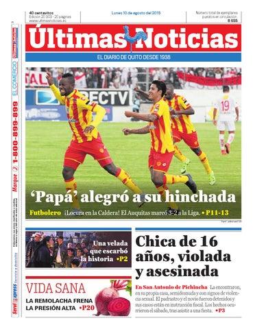 10 de Agosto 2015 by Últimas Noticias - issuu e13d5887ac8
