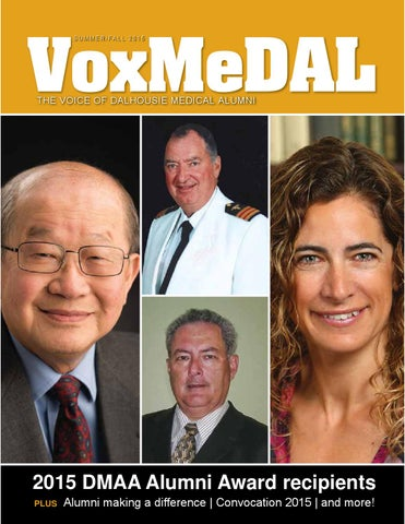 Voxmedal Summer 2015 By Dal Med Alumni Issuu