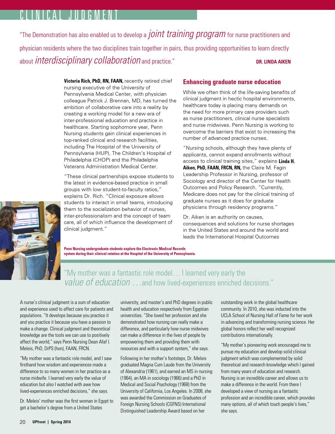 Penn Nursing UPfront: Spring 2014 by PennNursing - issuu