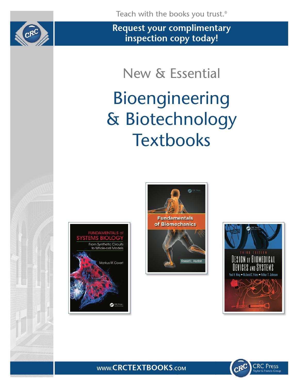 Bioengineering Biotechnology By Crc Press Issuu