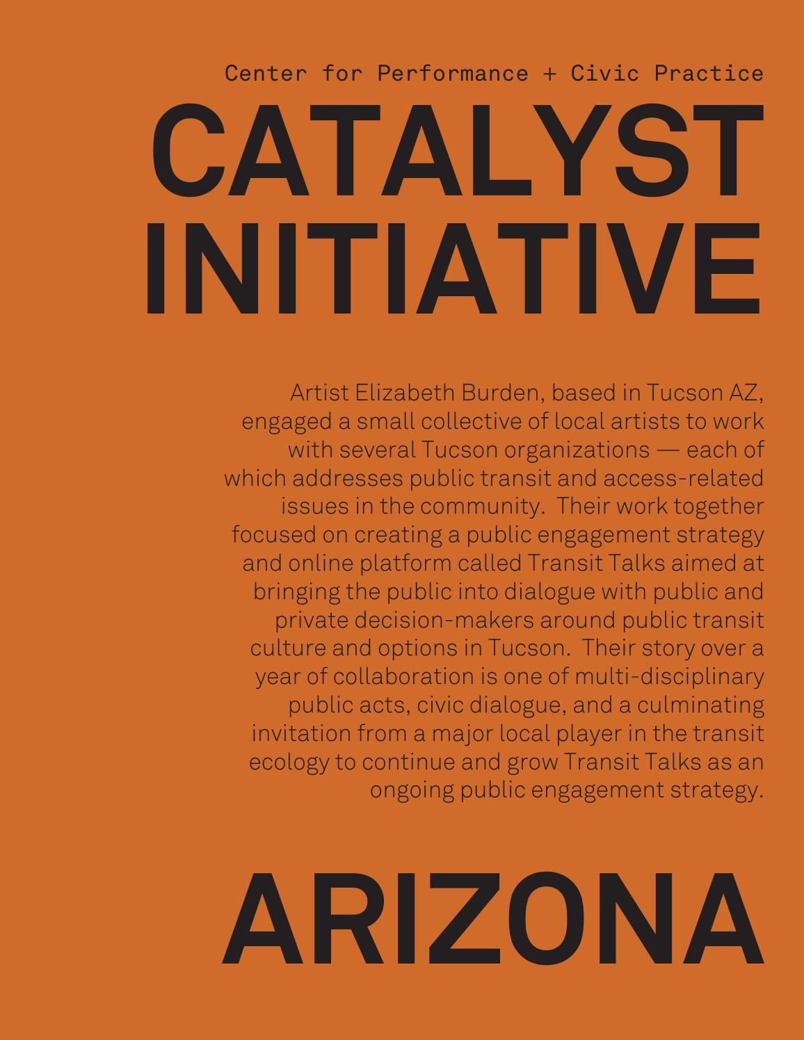 Catalyst Initiative : Arizona 2015 by Center for Performance and