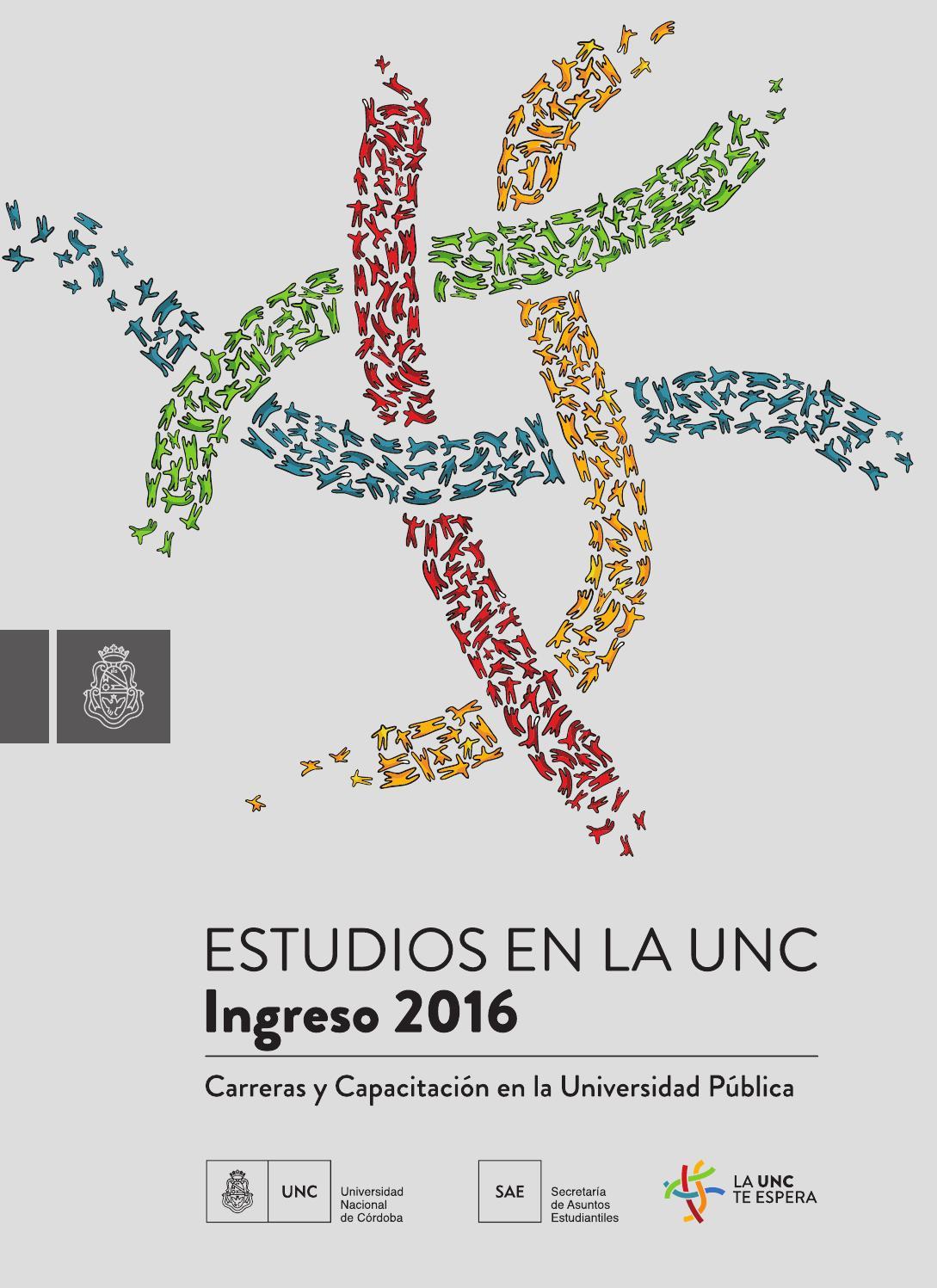 Guía de carreras 2015 de la Universidad Nacional de Córdoba by ...
