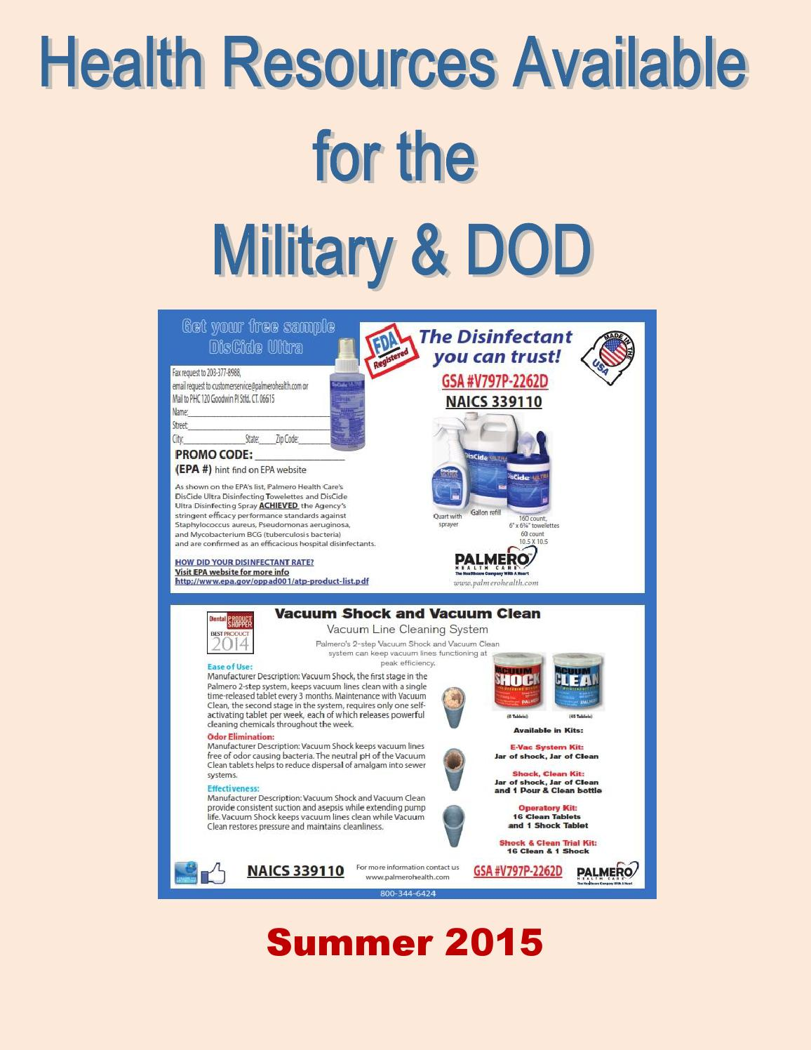 Health Resources Available for the Military & DOD