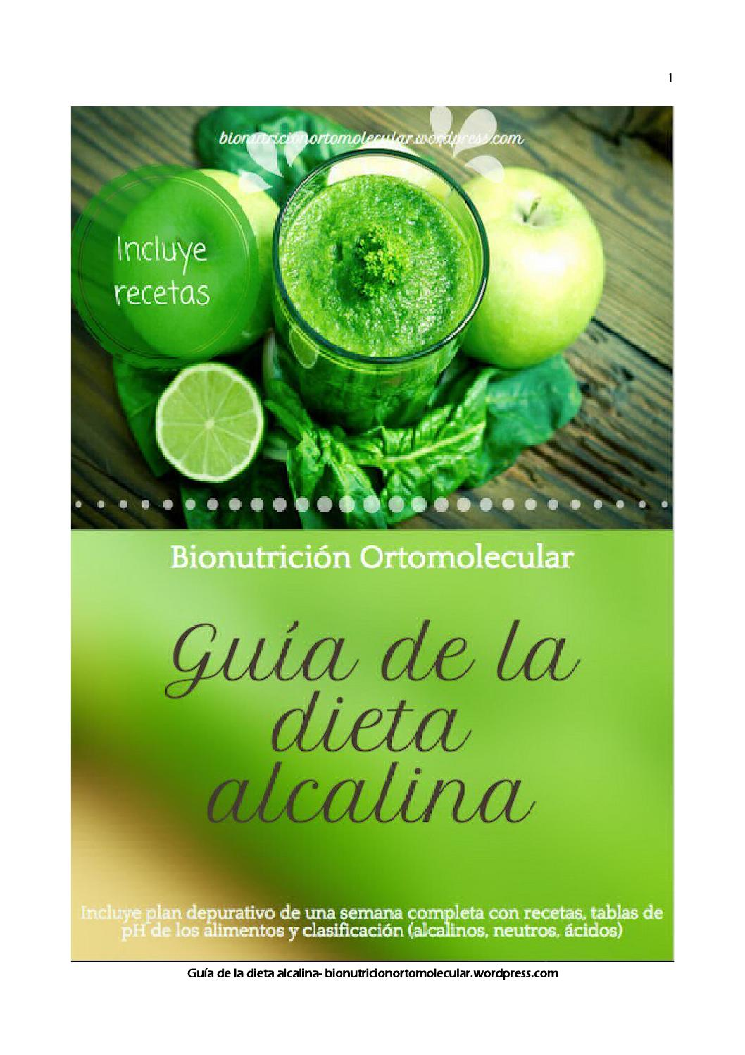 ejemplo dieta alcalina semanal