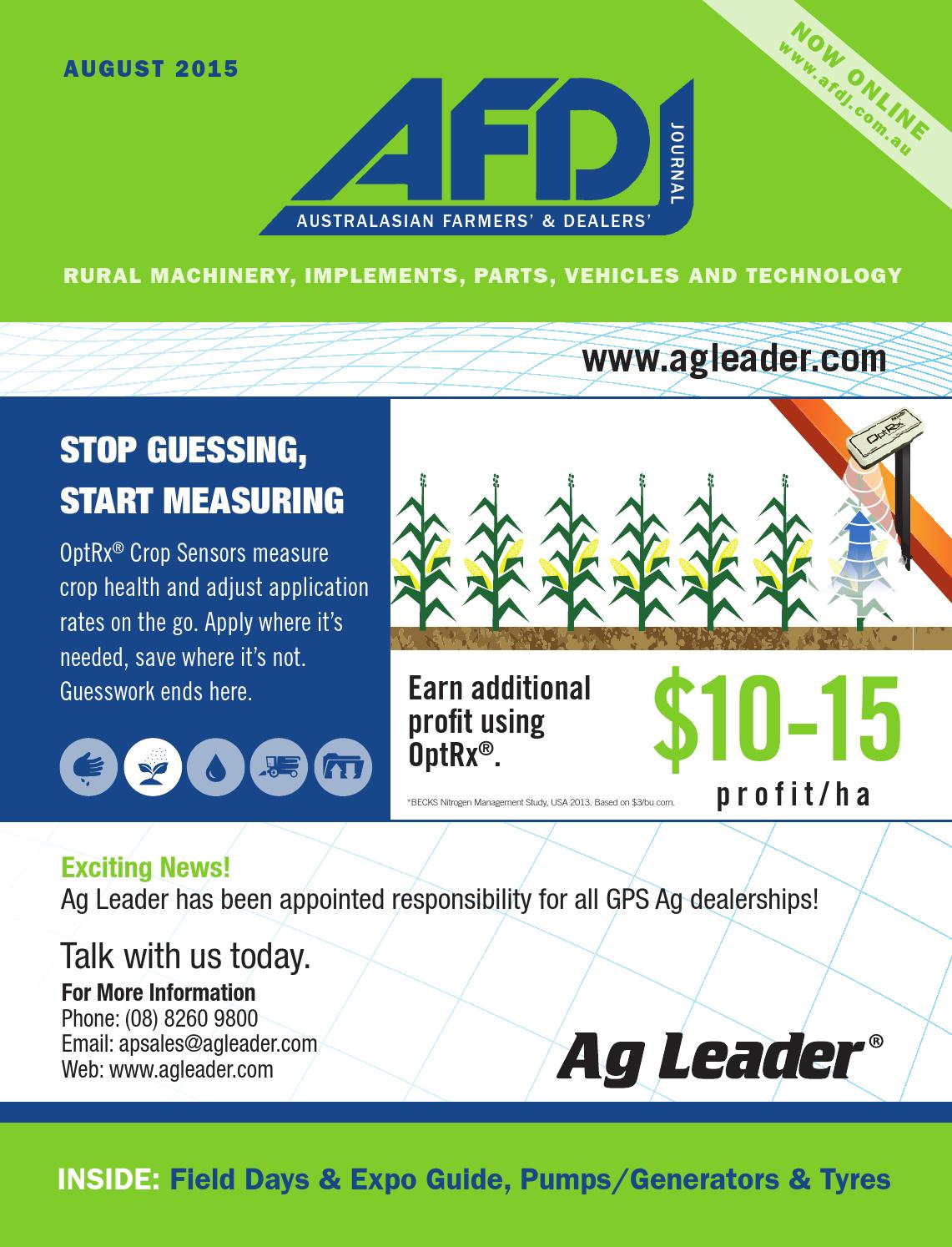 Australian Farmers' & Dealers' Journal - August 2015 by provincial press  group - issuu