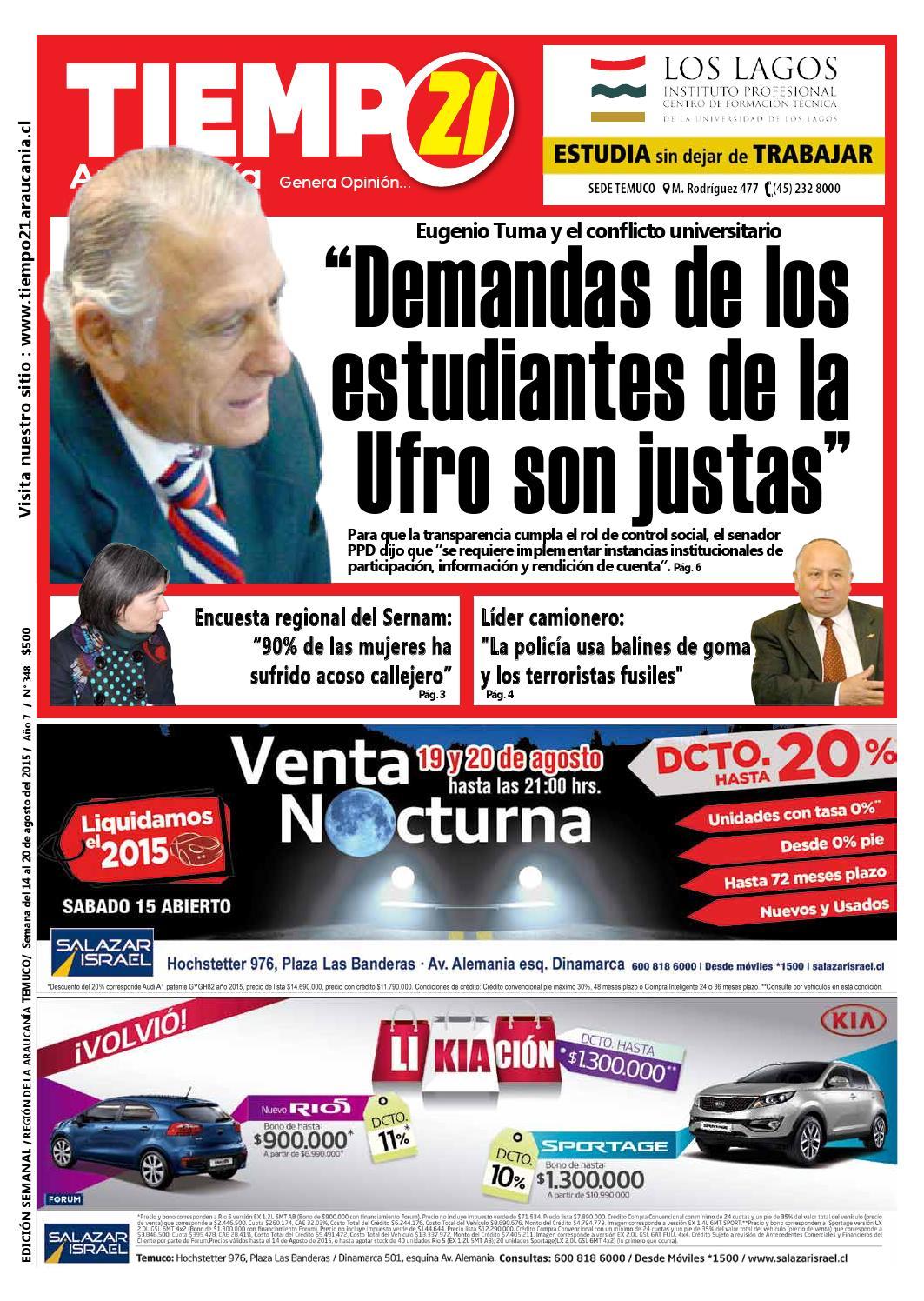 Edici N 348 Senador Tuma Demandas De Los Estudiantes De La Ufro  # Muebles Cid Lican Ray