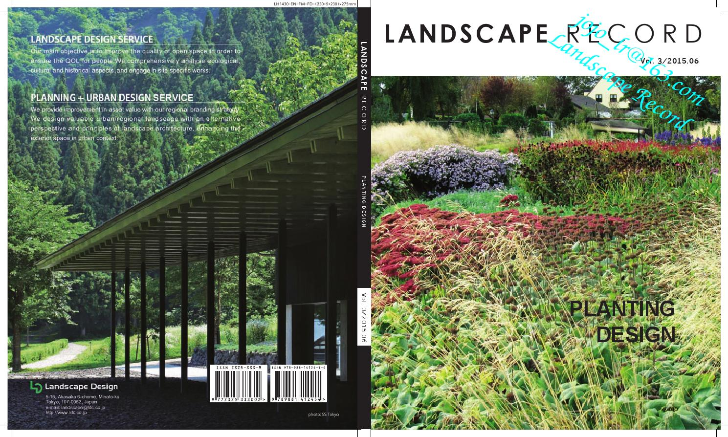 Landscape Record Planting Design By Landscape Record Issuu