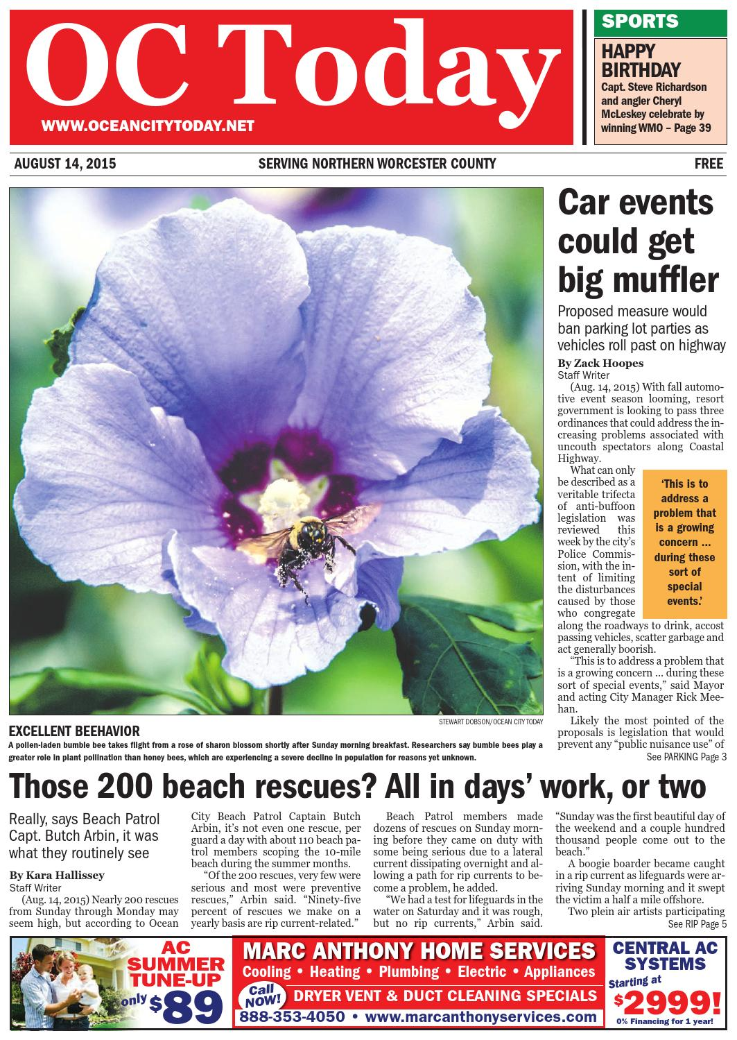 8/14/15 Ocean City Today by ocean city today - issuu