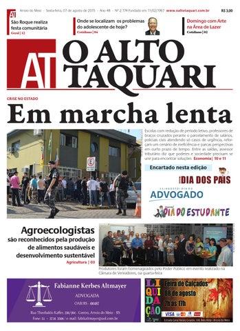 2bd975dac2 Jornal O Alto Taquari - 07 de agosto de 2015 by Jornal O Alto ...