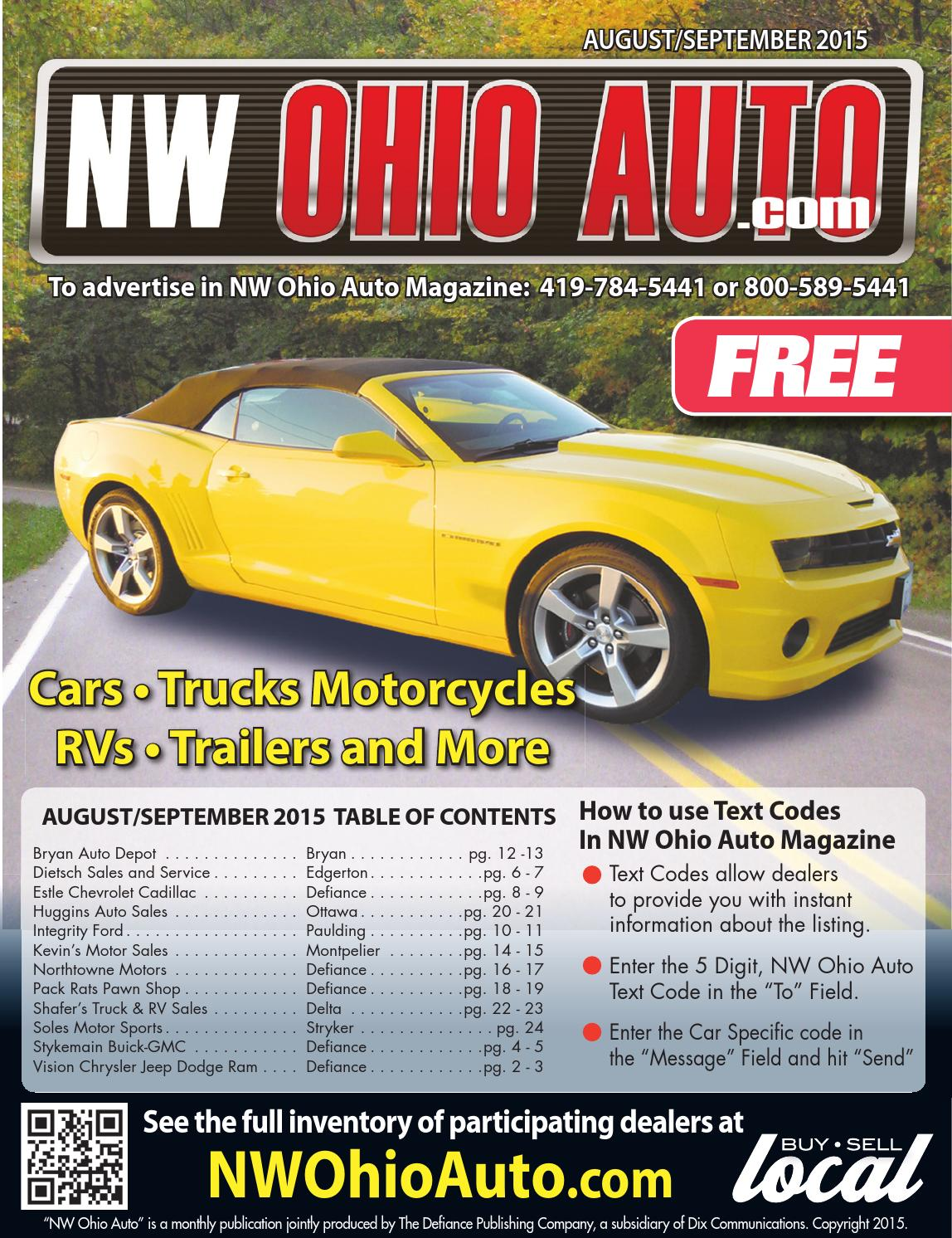 Nw ohio auto august september 2015 by gatehouse media for Northtowne motors defiance oh