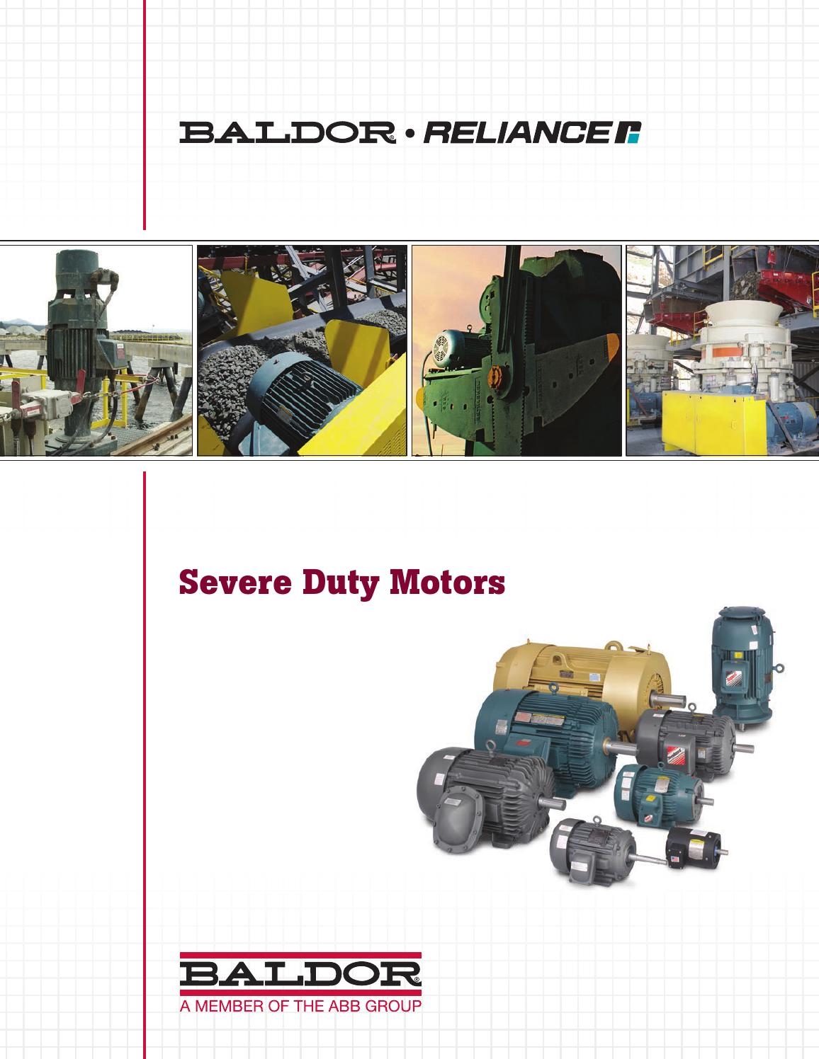 Baldor Severe Duty Motors By Tencarva Machinery Company Issuu High Efficiency Wiring Diagram