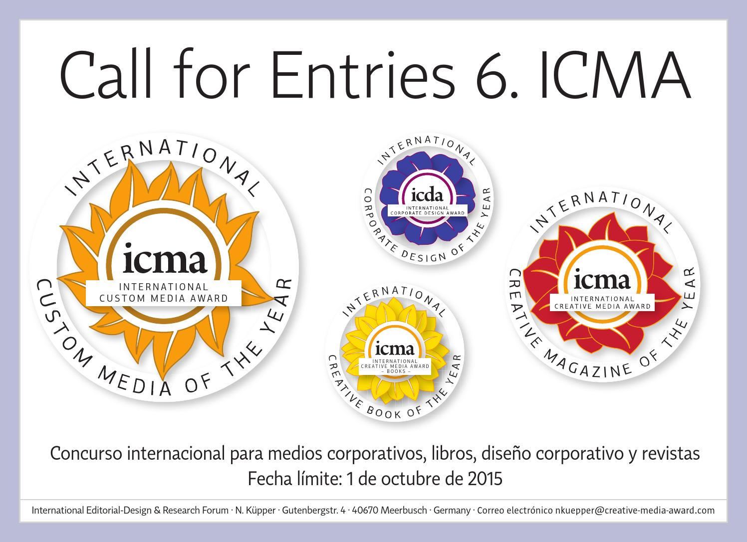 6. ICMA Call for Entries Spanish by Norbert Kuepper - issuu