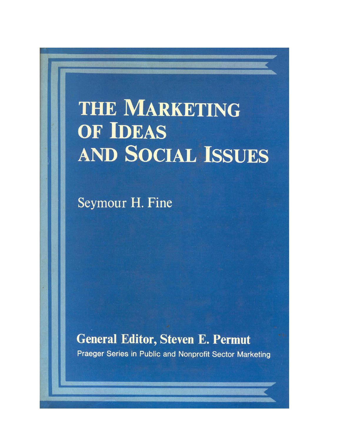 The marketing of ideas and social issues by Jean - issuu