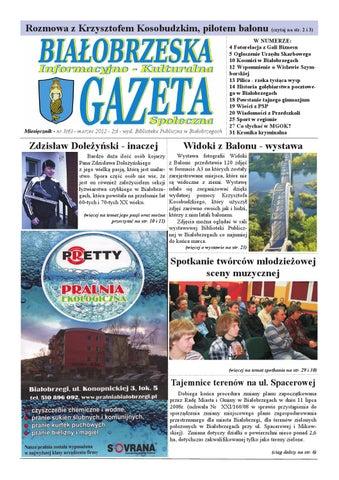 Gazeta Białobrzeska Nr 6 Marzec 2012 By Białorzeska Gazeta Issuu