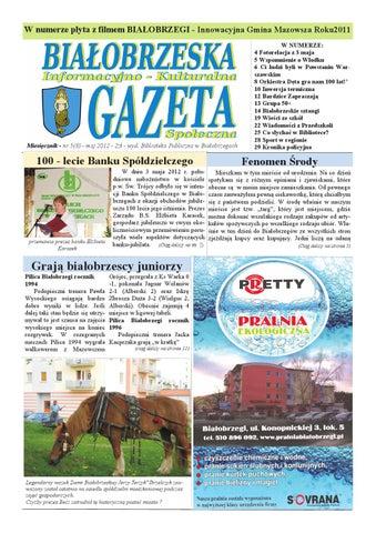 Gazeta Białobrzeska Nr 8 Maj 2012 By Białorzeska Gazeta Issuu