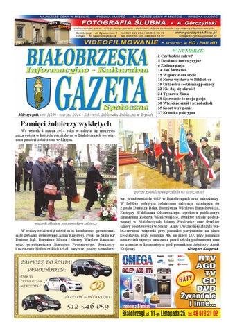 Gazeta Białobrzeska Nr 29 Marzec 2014 By Białorzeska Gazeta Issuu