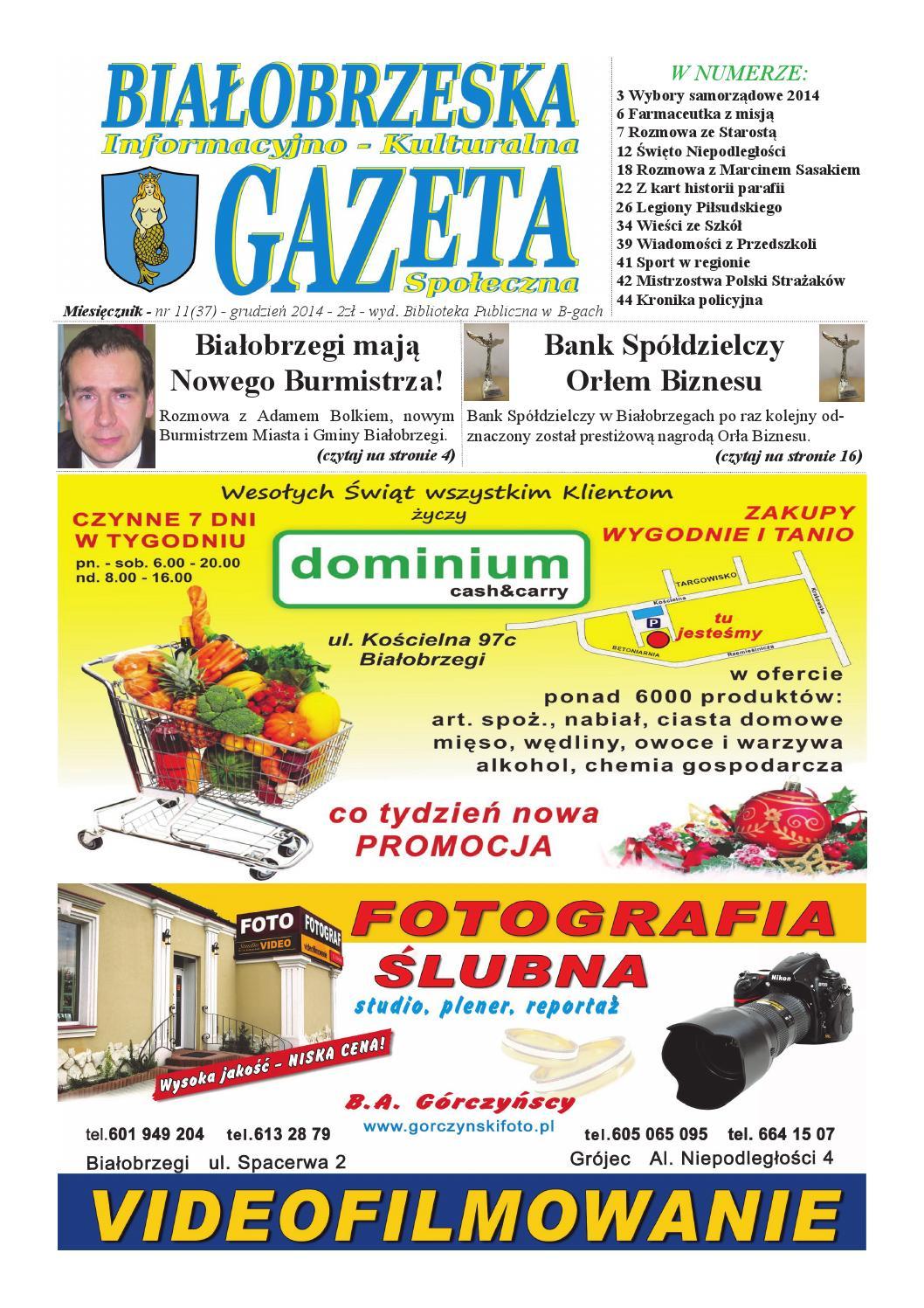 Gazeta Białobrzeska Nr 37 Grudzień 2014 By Białorzeska