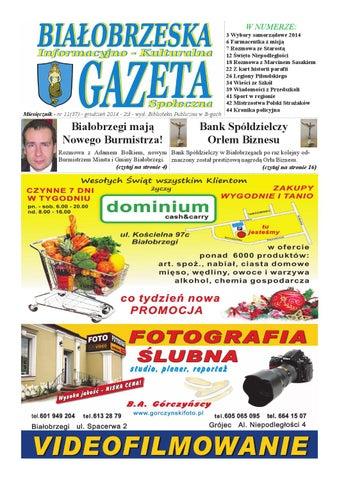 Gazeta Białobrzeska Nr 37 Grudzień 2014 By Białorzeska Gazeta Issuu