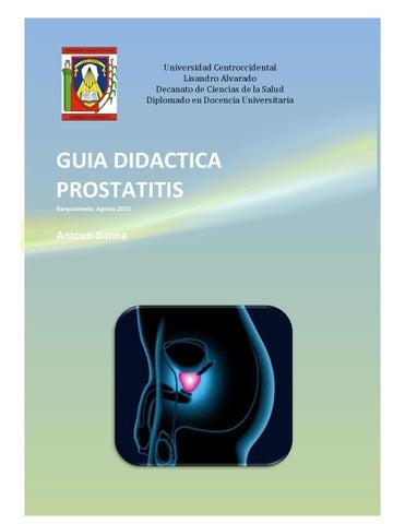 una patología puede causar prostatitis