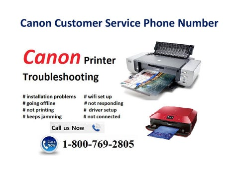 canon customer service phone number